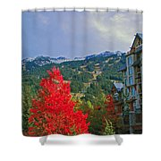 Whistler Red Shower Curtain