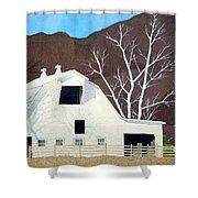 White Barn Shower Curtain