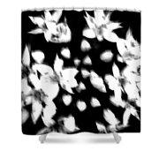 White Bouquet  Shower Curtain