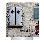 White Brick Shower Curtain