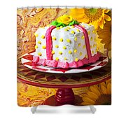 White Cake Shower Curtain