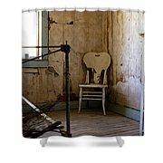 White Chair In The Bedroom Shower Curtain by Lorraine Devon Wilke