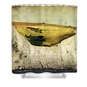 White Cliffs Lighthouse Shower Curtain