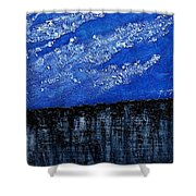 White Clouds  Shower Curtain