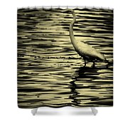 White Crane Shower Curtain