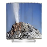 White Dome Geyser Erupting, Upper Shower Curtain