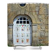 White Door Provence France Shower Curtain