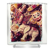 White Elephant Shower Curtain by Garry Gay