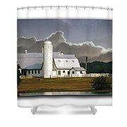 White Farm Shower Curtain