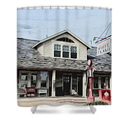 White Flash Gasoline Shower Curtain