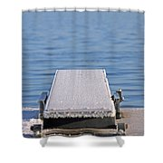 White Frost Diving Board Shower Curtain