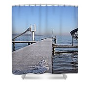 White Frost Slide Shower Curtain