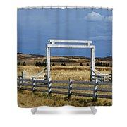 White Gateway Shower Curtain