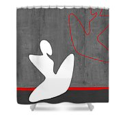 White Girl Shower Curtain