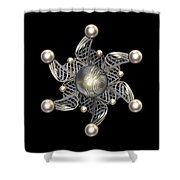 White Gold And Pearls Shower Curtain by Hakon Soreide