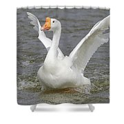 White Goose Shower Curtain