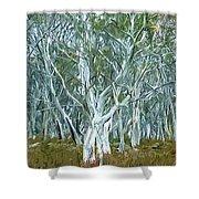 White Gum Forest Shower Curtain