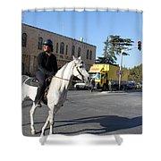 White Horse In Bethlehem Street Shower Curtain