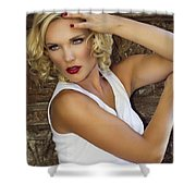 White Hot 2 Palm Springs Shower Curtain
