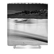 White In White Sands Shower Curtain