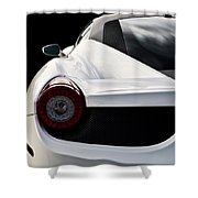 White Italia Shower Curtain