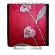 White Lotus Top Shower Curtain
