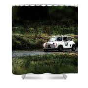 White Mini Innocenti Austin Morris Shower Curtain