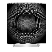 White Perspective Shower Curtain