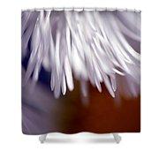 White Petals Shower Curtain
