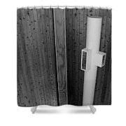 White Pipe Shower Curtain