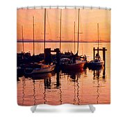 White Rock Sailboats Hdr Shower Curtain