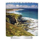 White Rocks, Portrush, Co Antrim Shower Curtain