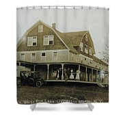 White Roe Boarding House-owner E Keene Prior To My Grandfather. Circ 1900s Shower Curtain