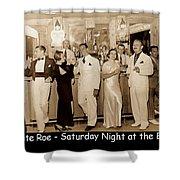 White Roe Lake Hotel-livingston Manor-saturday Night At The Bar Shower Curtain
