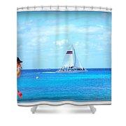 White Sails Shower Curtain by Danielle  Parent
