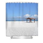 White Sands Of Siesta Crescent Beach Shower Curtain