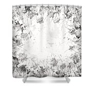 White Space Shower Curtain