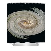 White Spiral Shower Curtain