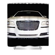 White  Three  Hundred  Limited  In  Black  Shower Curtain