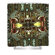 White Tiger Carousel 2 Shower Curtain