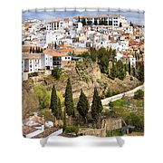 White Town Of Ronda Shower Curtain