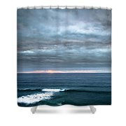 White Track Shower Curtain