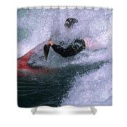 White Water Kayaker Shower Curtain