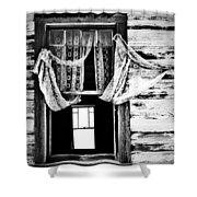 White Wedding Shower Curtain