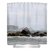 Whitecapping Shower Curtain