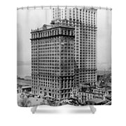 Whitehall Buildings At Battery Place Station In New York City - 1911 Shower Curtain