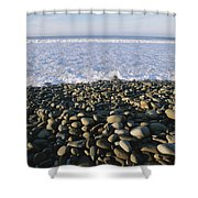 Whitewater From Crashing Waves Washes Shower Curtain