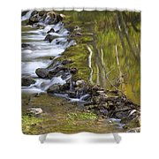 Whitewater River Rock Dam 1 A Shower Curtain