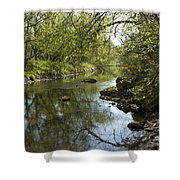 Whitewater River Spring 10 Shower Curtain