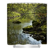 Whitewater River Spring 11 Shower Curtain
